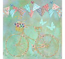 Magical Bicycle Tour enchanted, whimsical art Photographic Print