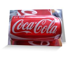 would you like to have a coke today? Greeting Card