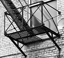 outside the window, fire escape by Gerry Daniel
