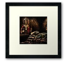 Papal Puzzle Framed Print
