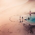 Summer Beach Fun - New Zealand Landscape by Cubagallery