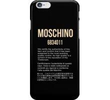 MOSCHINO GOLD #1 iPhone Case/Skin