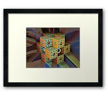 Menger Sponge Framed Print