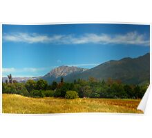 New Zealand Richmond Mountain Range Poster