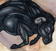 Running Bull by Lynnette Shelley