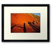 Morning Shadows on Mount Fuji Framed Print