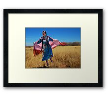 Dancing in a Field Framed Print
