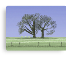 Trees and Bees Canvas Print