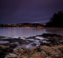 Kingston from Tyndall Beach Rocks, Tasmania by Chris Cobern