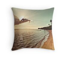 Pacific Island Sunset - Rarotonga Landscape Throw Pillow