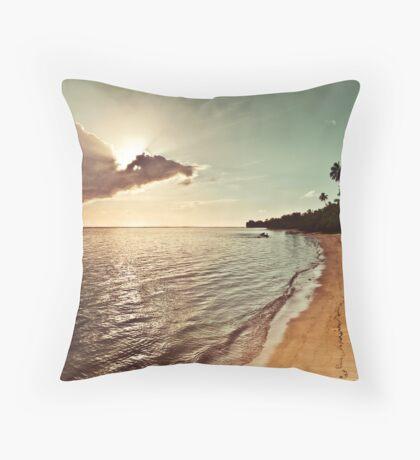 Pacific Island Sunset - Rarotonga Landscape Throw Pillow