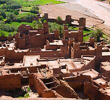 Ait Benhaddou 3 - from above by Ian Fegent