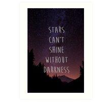 STARS QUOTE Art Print