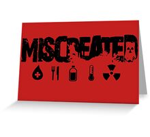 Miscreated  Design 2 Red (Official) Greeting Card