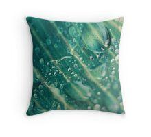 Macro Water Droplet Texture Throw Pillow