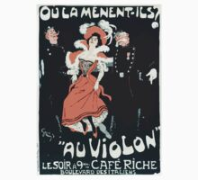 Jules Alexandre Grün Poster by Grün for the Café Riche Paris 1898 Kids Tee