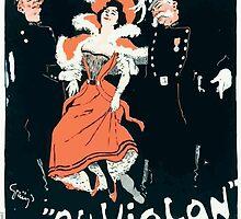 Jules Alexandre Grün Poster by Grün for the Café Riche Paris 1898 by wetdryvac