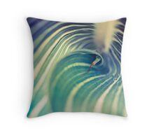 Macro Plant Texture Throw Pillow