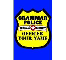Grammar police customizable geek funny nerd Photographic Print