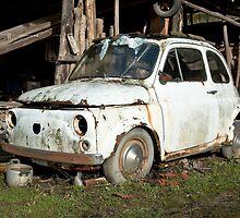 Abandoned Rusty Car by Karen Havenaar