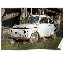 Abandoned Rusty Car Poster