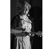 Granny Flaps (Lori Bell) - Comedian (B&W) Photographic Print