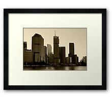 Brisbane skyscrapers Framed Print