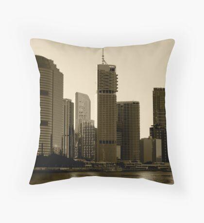 Brisbane skyscrapers Throw Pillow