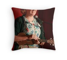 Granny Flaps (Lori Bell) - Comedian (col v) Throw Pillow