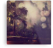 Palm tree and the night Metal Print