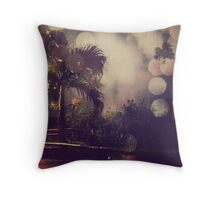 Palm tree and the night Throw Pillow