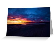 Autumn Sunset Banksia Beach Greeting Card