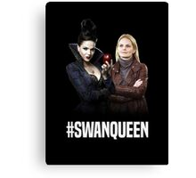 Once Upon A Time: #SWANQUEEN Canvas Print