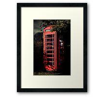 Phone Box Framed Print