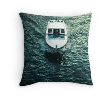 Water Taxi Venice Italy Throw Pillow