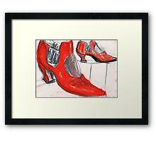 Red Red Framed Print