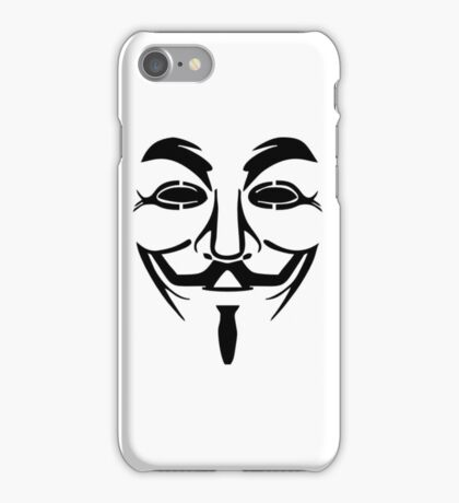 Anonymous Mask Silhouette iPhone Case/Skin