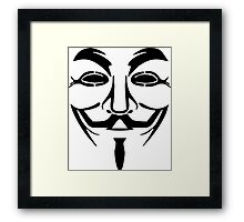 Anonymous Mask Silhouette Framed Print