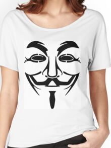 Anonymous Mask Silhouette Women's Relaxed Fit T-Shirt