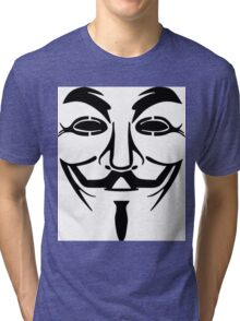 Anonymous Mask Silhouette Tri-blend T-Shirt