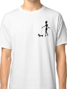 Flaunting The Pooch (blush) - Dachshund Sausage Dog Classic T-Shirt