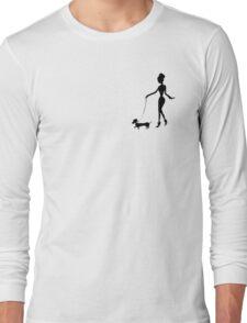 Flaunting The Pooch (blush) - Dachshund Sausage Dog Long Sleeve T-Shirt