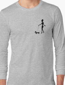 Flaunting The Pooch (blush) Long Sleeve T-Shirt