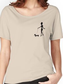 Flaunting The Pooch (blush) Women's Relaxed Fit T-Shirt