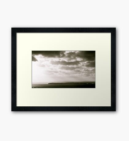 Island in Donegal, Black and White Framed Print