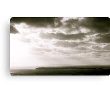 Island in Donegal, Black and White Canvas Print