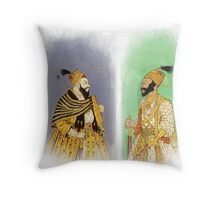 Mughal Emperors  Throw Pillow