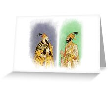 Mughal Emperors  Greeting Card