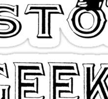 History geek geek funny nerd Sticker