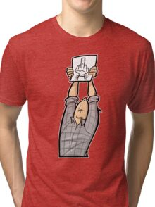 Schisslaweng - Die Meinung Tri-blend T-Shirt